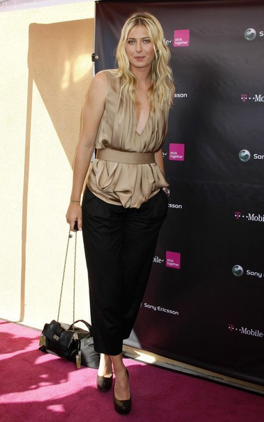 Maria Sharapova at the T-Mobile Store opening and launch of the new Sony Ericsson Equinox phone. They were also celebrating Halloween with a Maria Sharapova look-a-like contest, Los Angeles, CA.