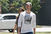 Maria Shriver & Patrick Schwarzenegger Lunch in Brentwood