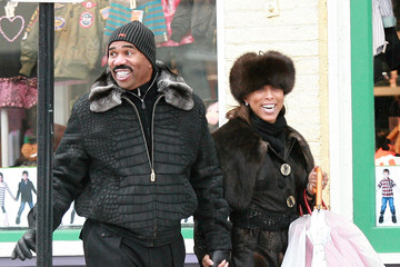 Marjorie Bridges Steve Harvey And Wife Marjorie Out Shopping In Aspen
