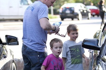 Mark Wahlberg Michael Wahlberg Mark Wahlberg Out For Lunch with His Boys