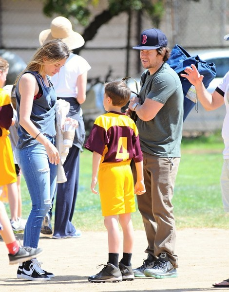 Mark Wahlberg & His Wife Watch Their Son's Soccer Game