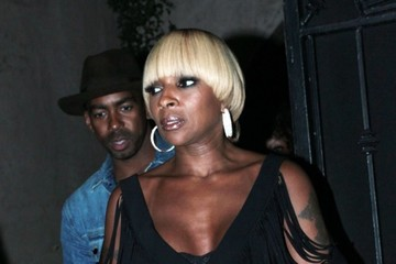 Mary J. Blige Celebs Dine Out At Craig's In West Hollywood