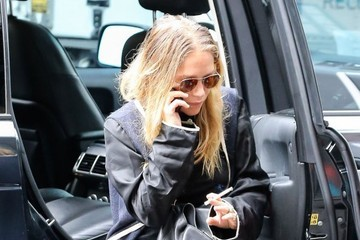 Mary-Kate Olsen The Olsen Twins Return from Fashion Week