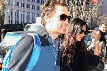 Matthew McConaughey Matthew McConaughey Goes Out with Camila Alves in NYC