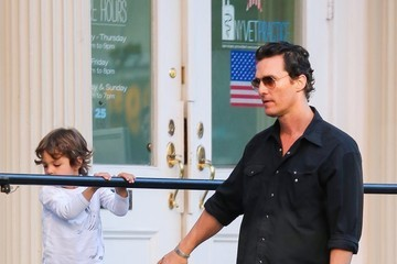 Matthew McConaughey Matthew McConaughey and Camila Alves Are Seen With Their Children in NYC