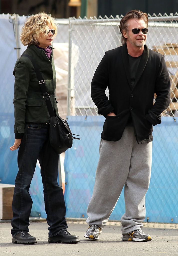 Meg Ryan And John Mellencamp Out For A Stroll In New York