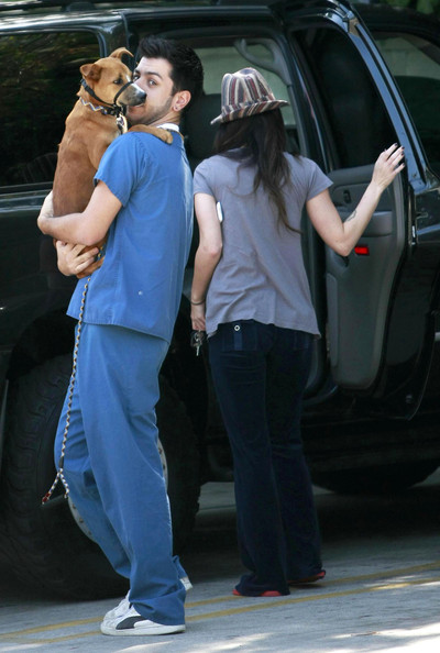 Megan Fox and Brian Austin Green Picking Up Dog From Animal Hospital
