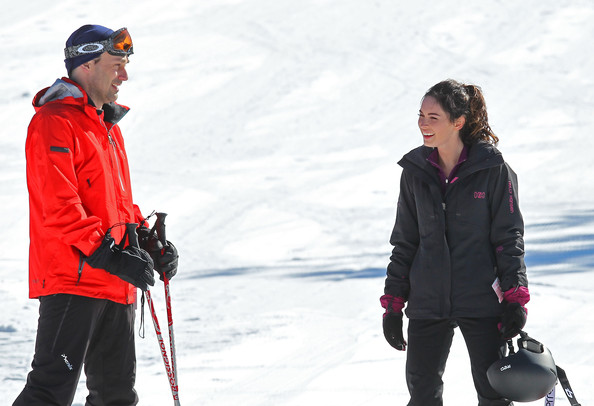 Megan Fox and John Hamm go skiing on the set of Friends with Kids in New York. Megan showed off her snowboarding skills and cruised down the mountain. Also on hand was Jon's real life girlfriend Jennifer Westfeldt.