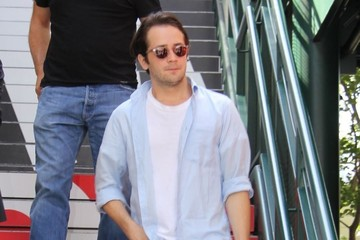 Michael Angarano Celebs Drop by 'Extra'