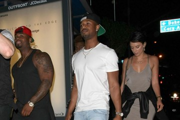 Michael B. Jordan Celebrities Enjoy a Night Out at Bootsy Bellows