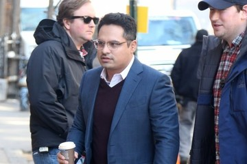 Michael Pena Celebrities Perform on the Set of 'Collateral Beauty' in NYC