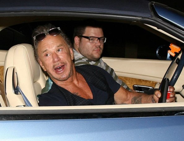 Mickey Rourke Dines Out At Ago