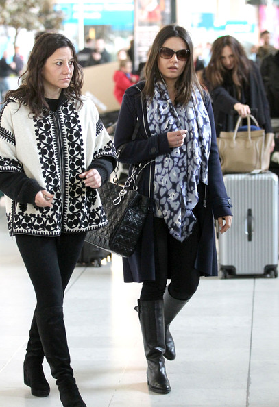 Mila Kunis Touches Down In Paris