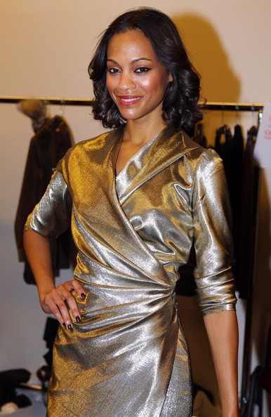 Zoe Saldana Celebrities attending the Max Mara Fashion Show Fall Winter 2010-2011 during Milan Fashion Week in Milan, Italy.