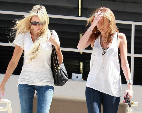 Actress Miley Cyrus and her mom Tish Cyrus seen heading to a meeting in Hollywood, CA.