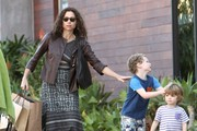 Minnie Driver & Son Shopping In Malibu