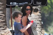 Minnie Driver Takes Her Son to Lunch
