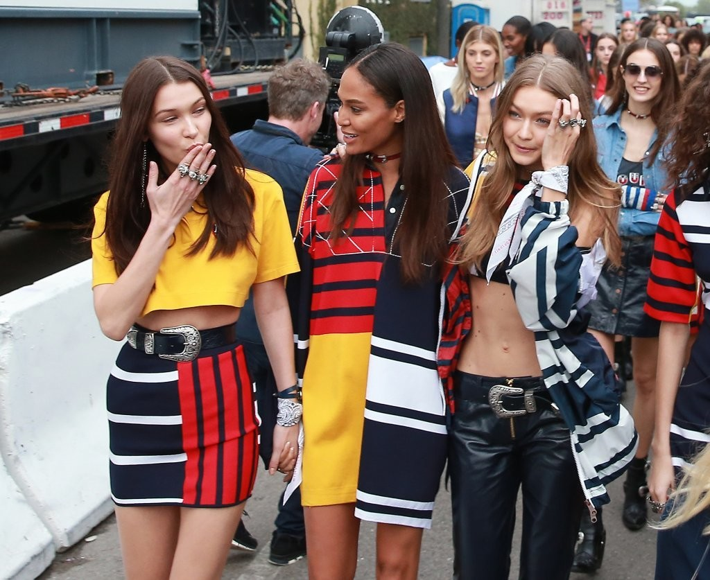 Bella hadid photos photos models rehearse for the tommy hilfiger fashion show in santa monica - Tommy hilfiger show ...