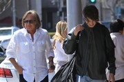 Mohamed Hadid Out For Lunch With His Son Anwar