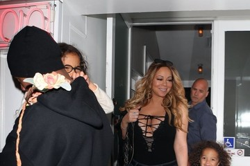 Monroe Cannon Mariah Carey and Nick Cannon Leave Au Fudge