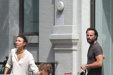 Nadia Conners 'The Hateful Eight' Star Walton Goggins and Family in Soho