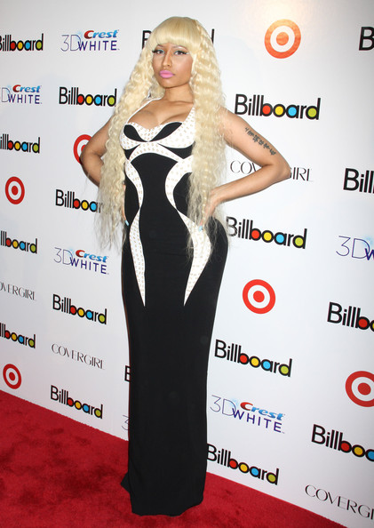 Nicki Minaj Celebrities arrive at the Billboard's Sixth Annual Women In Music event at Capitale in New York City.