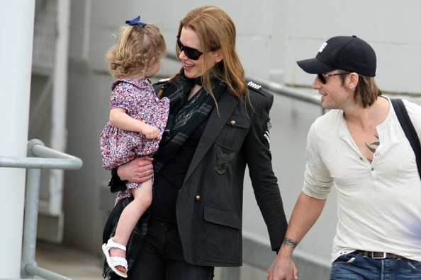 Nicole Kidman Nicole Kidman, Keith Urban and daughter Sunday-Rose arrive in