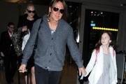 Couple Nicole Kidman and Keith Urban are seen arriving on a flight at LAX airport in Los Angeles, California with their daughters on December 30, 2016. The happy family are returning from a trip to their homeland of Australia.