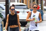 Nikki Reed and Cara Santana Leave the Gym