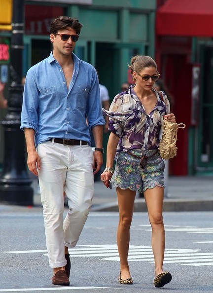 Olivia Palermo - Olivia Palermo And Beau Stroll Through The West Village