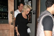 Pamela Anderson Goes Out for Dinner