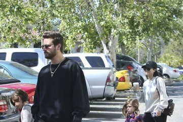 Penelope Disick Kourtney Kardashian and Scott Disick Take Their Kids to a Movie in Calabasas