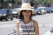 Perrey Reeves Goes Shopping In Beverly Hills