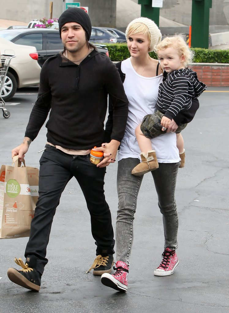 Pete Wentz with ex-wife Ashlee Simpson and son Bronx