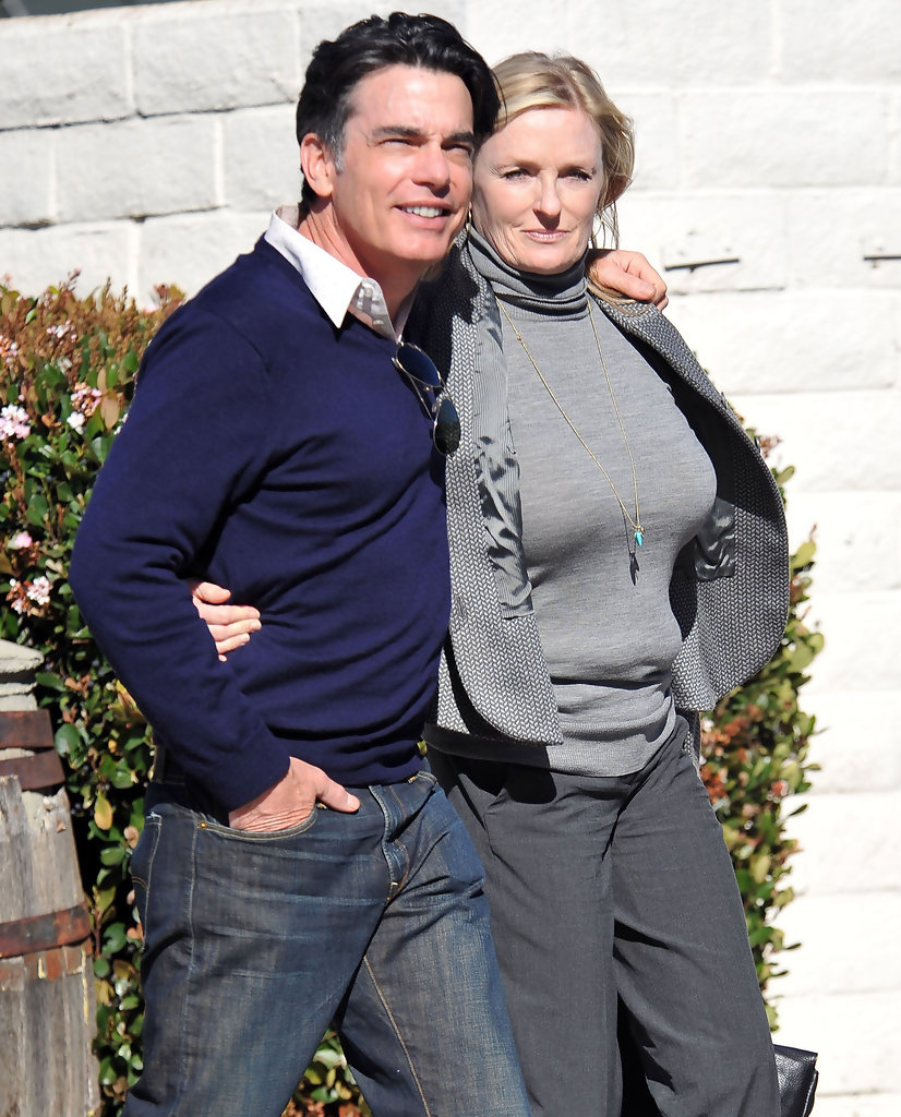 paula harwood in peter gallagher and wife paula out for