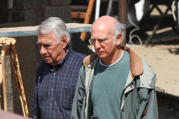 Phillip Baker Hall Larry David Films Scenes For New Movie 'Clear History'