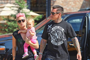 Carey Hart Pink And Carey Take Willow Out In New York