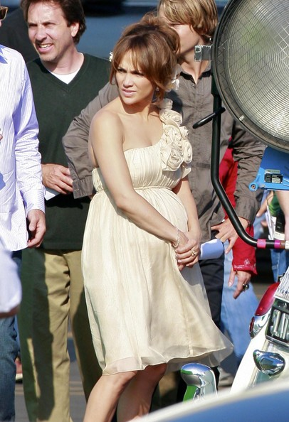 "Actress Jennifer Lopez is seen on the set of her new film ""The Back-Up Plan"""
