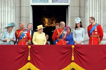 Prince William Prince Charles 'ROYALS' At Buckingham Palace After 'Trouping The Colour' Ceremony