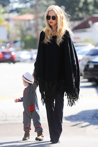 Rachel Zoe and Family Get Lunch