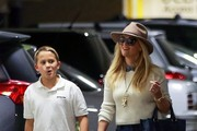 Reese Witherspoon Visits a Medical Building with Her Son Deacon