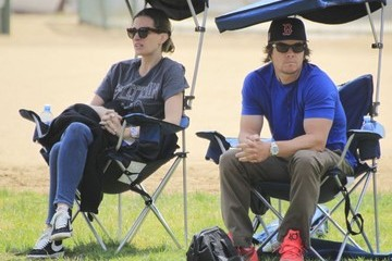 Rhea Durham Mark Wahlberg and Wife Rhea Durham Attend Son's Football Game