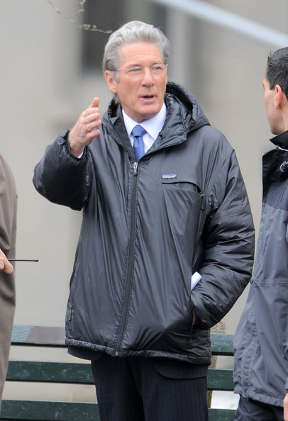 "Actor Richard Gere is seen on the set of ""Arbitrage"" in Central Park in New York."