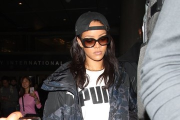 Rihanna Rihanna Touches Down at LAX