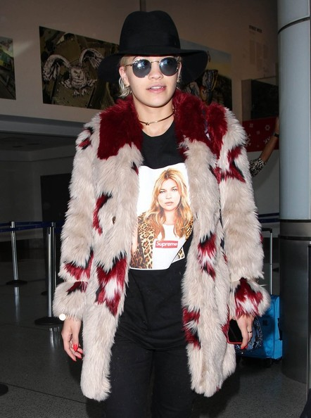 Rita Ora Touches Down at LAX