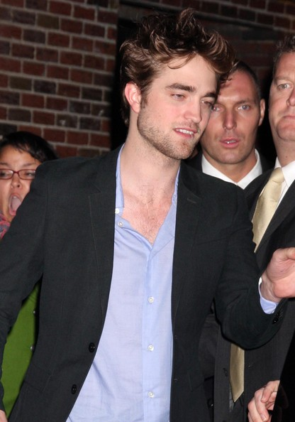Actor Robert Pattinson at the Late Show with David Letterman in New York City, NY.