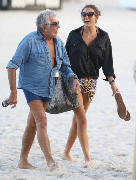 Roberto Cavalli and Lina Nilson Enjoy a Beach Day
