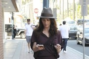 Robin Tunney has lunch with a friend at Le Pain Quotidien in Beverly Hills, California on March 29, 2017.