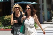 Actress Robin Tunney and a friend are spotted out for lunch at La Scala in Beverly Hills, California on April 21, 2017. After lunch the pair headed out to do a little shopping.