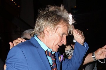 Rod Stewart Celebrities Out For Dinner at Craig's